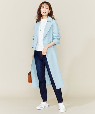 組曲 【VERY4月号掲載】C/Nyチェックライトコート ブルー系3