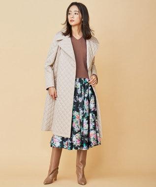 組曲 【Rythme KUMIKYOKU】キルティング ドレス コート ベージュ系