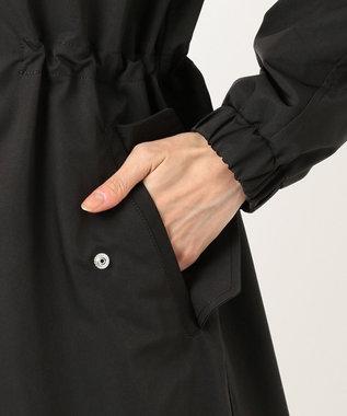 組曲 【コンパクトにして持ち運べる】ポケッタブル マウンテンコート ブラック系