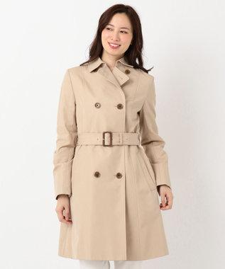 組曲 【撥水加工・花粉ガード】ダブルロングトレンチ コート ベージュ系