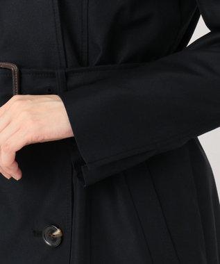 組曲 【撥水加工・花粉ガード】ダブルロングトレンチ コート ネイビー系