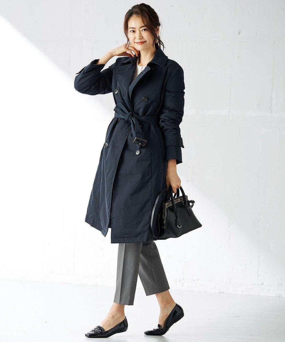 組曲 L 【mi-mollet掲載】ADSトレンチ型ダウンコート ネイビー系
