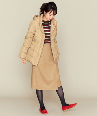 組曲 S 【洗える】ライトタフタダウン ショートコート ベージュ系