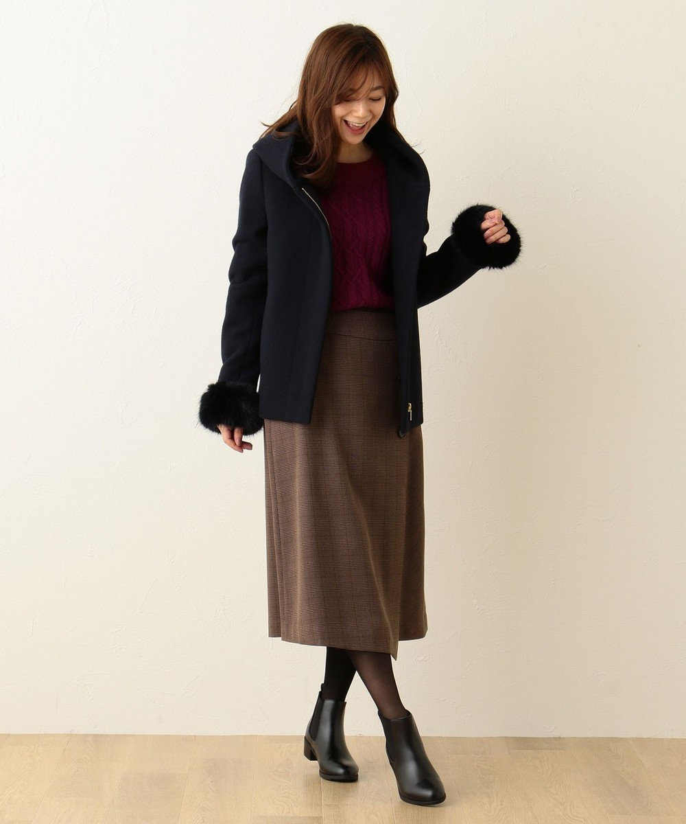 any FAM 【2WAY】ダブルフェイス  ショートコート ネイビー系