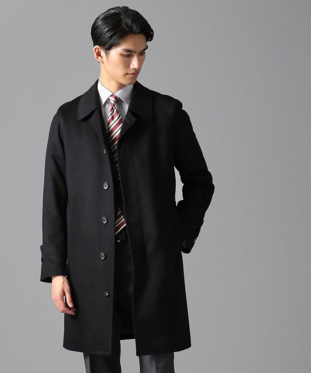 GOTAIRIKU 【COLOMBO】ピュアカシミヤ ステンカラーコート ブラック系
