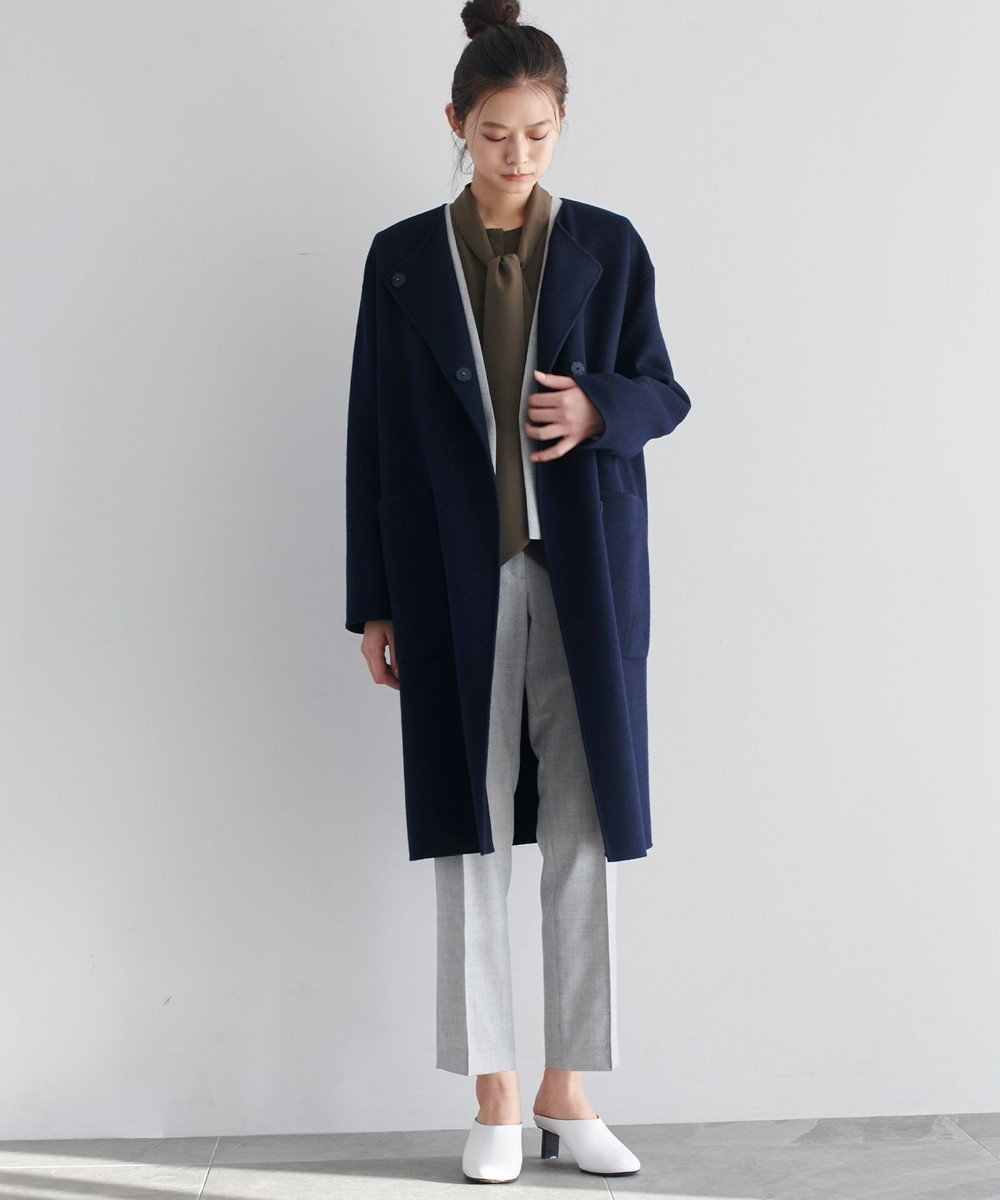 JOSEPH 【JOSEPH STUDIO】ジーロンラムダブルフェイス ロングコート ネイビー系