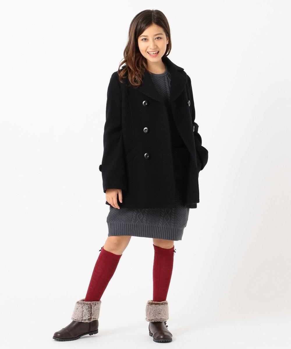 組曲 KIDS 【150-170cm】ピーコート ネイビー系