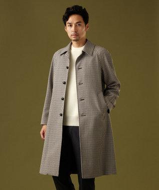 J.PRESS MEN 【ORIGINALS】バルマカーン ガンクラブチェック コート ベージュ系3