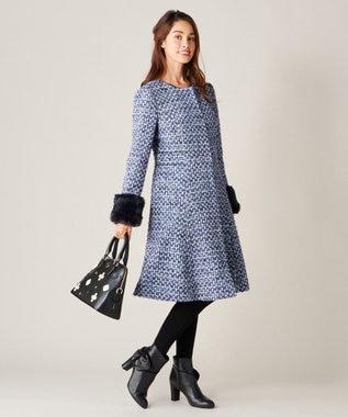TOCCA MISS HEPBURN ノーカラーコート ピンク系