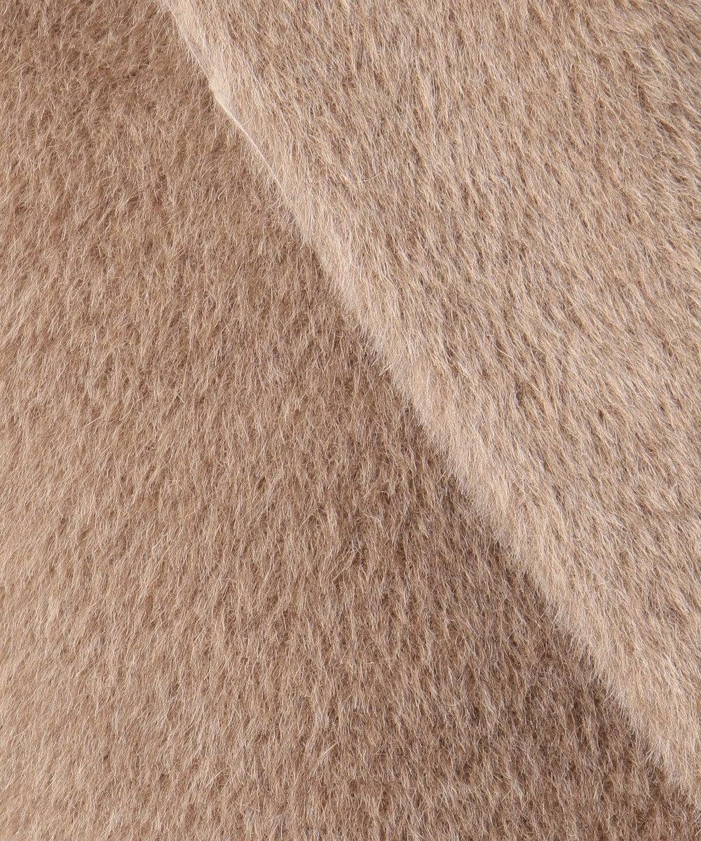 自由区 【亜希さん着用】イタリア AGNONA シャギーコート(検索番号N48) ダークブラウン系