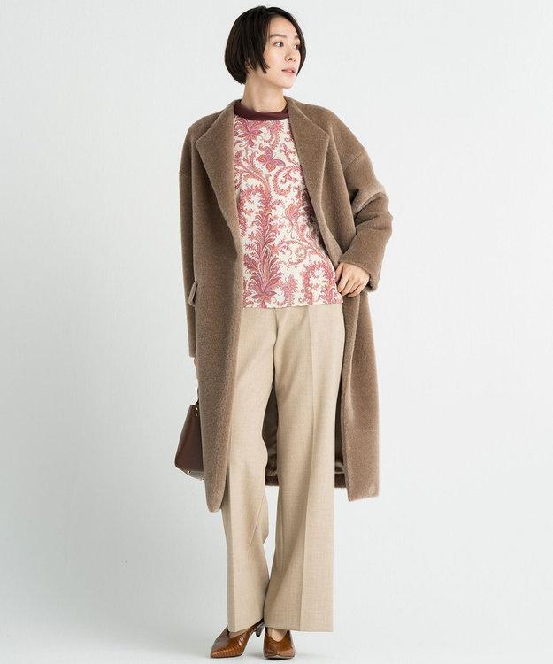 自由区 【亜希さん着用】イタリア AGNONA シャギーコート(検索番号N48)