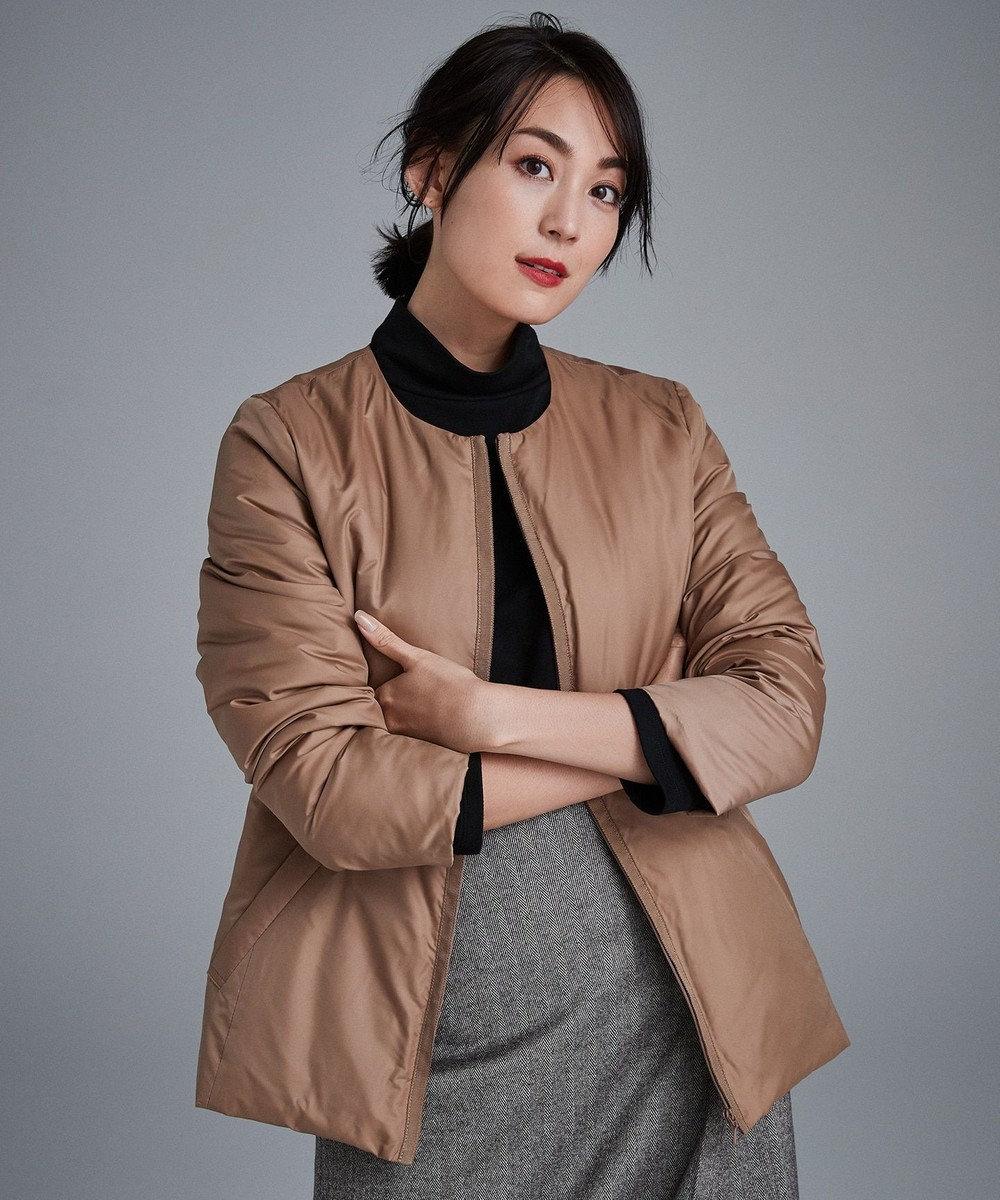 自由区 L 【mi-mollet掲載】ADS インナーダウン付き フーデッドコート キャメル