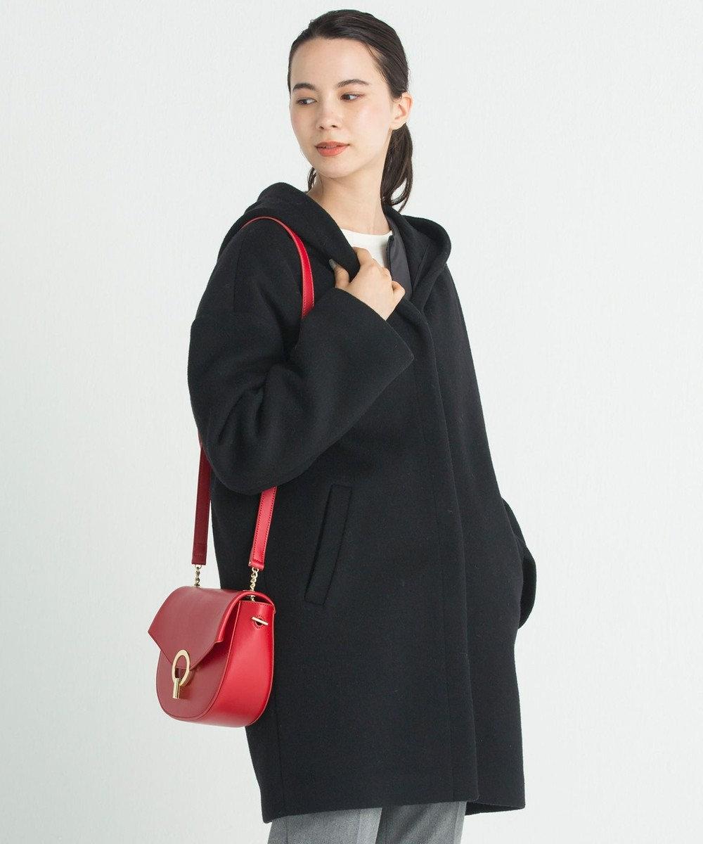 自由区 L 【mi-mollet掲載】ADS インナーダウン付き フーデッドコート ブラック