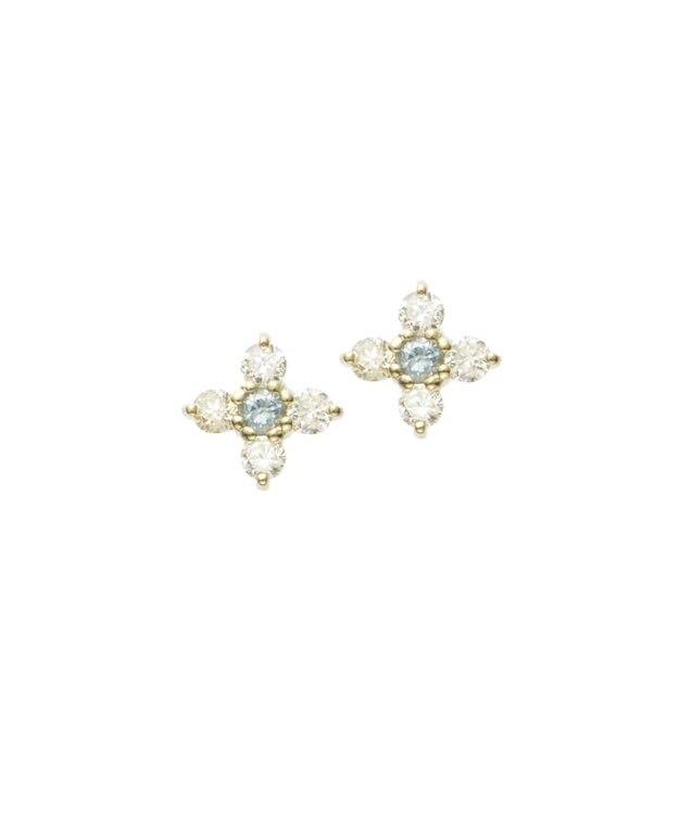TOCCA 【TOCCA JEWEL】ダイヤモンド/ブルーダイヤモンド ピアス イエローゴールド