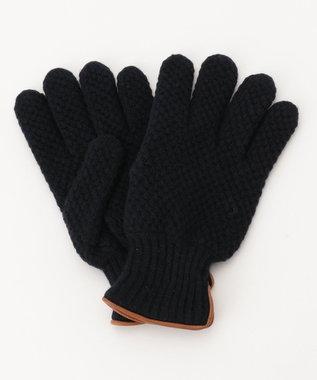 J.PRESS MEN 【ウールカシミヤ】ライニング 手袋 ネイビー系