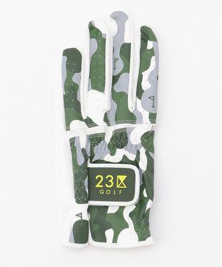 23区GOLF 【MEN】迷彩柄 グローブ ダークグリーン系5