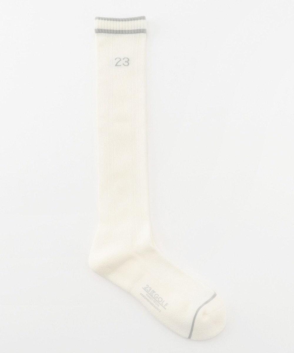 23区GOLF 【MEN】ハイソックス ホワイト系