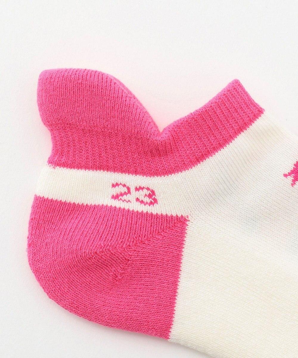 23区GOLF 【WOMEN】ボタニカルフラワー柄 アンクルソックス ピンク系5