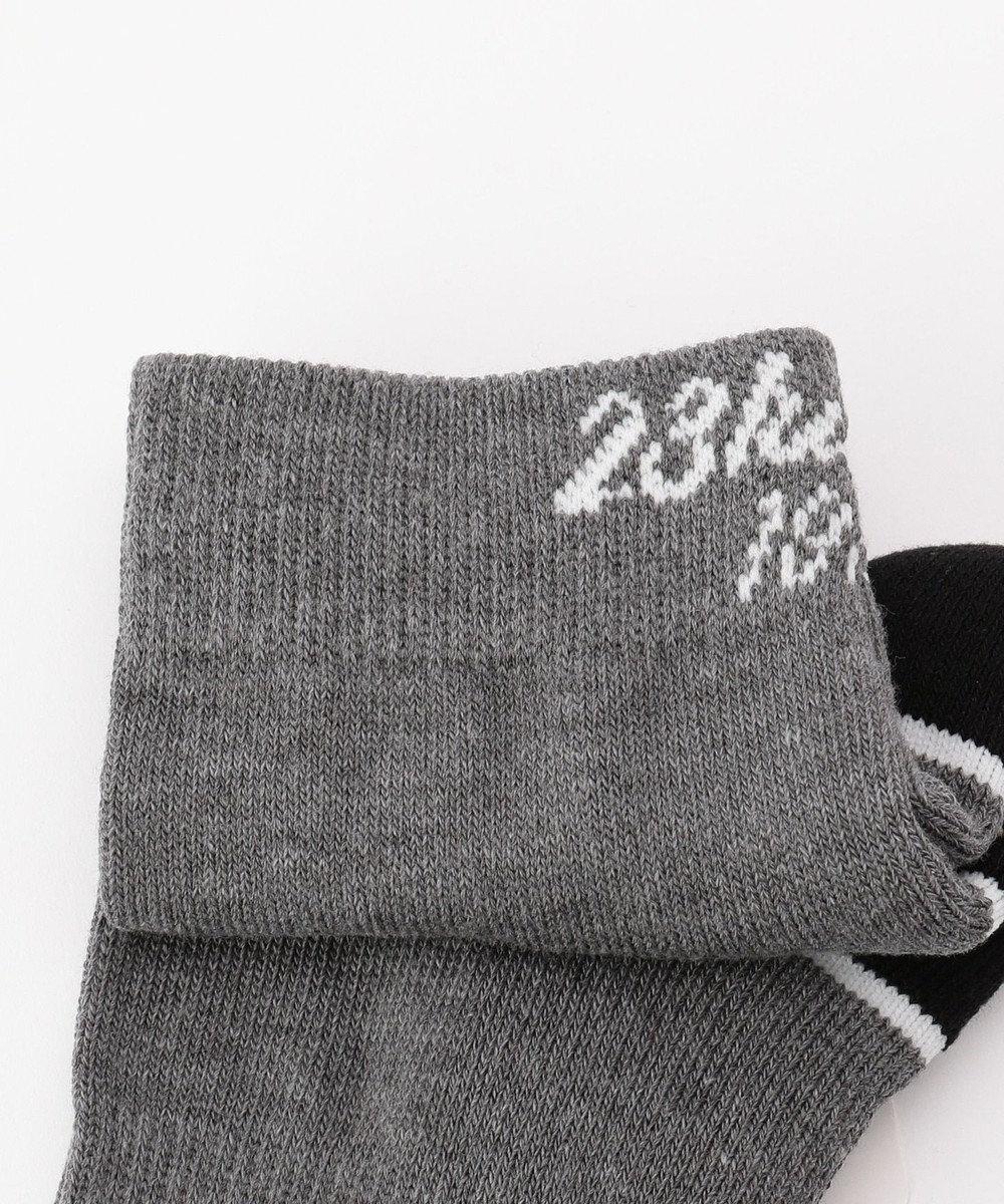 23区GOLF 【WOMEN】【抗菌防臭/日本製】バックロゴ ショートソックス グレー系