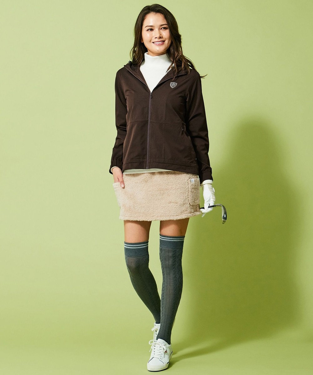 23区GOLF 【WOMEN】【抗菌防臭/日本製】フロート柄 ニーハイソックス グレー系