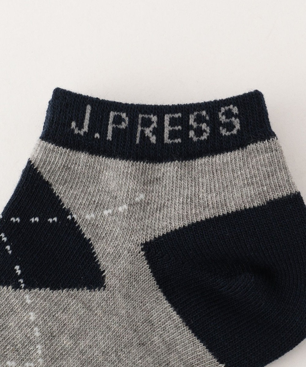 J.PRESS KIDS 【KIDS雑貨】アーガイルスニーカー ソックス ライトグレー系3