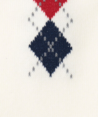 J.PRESS KIDS 【KIDS雑貨】アーガイルソックスIII(19~26cm) アイボリー系