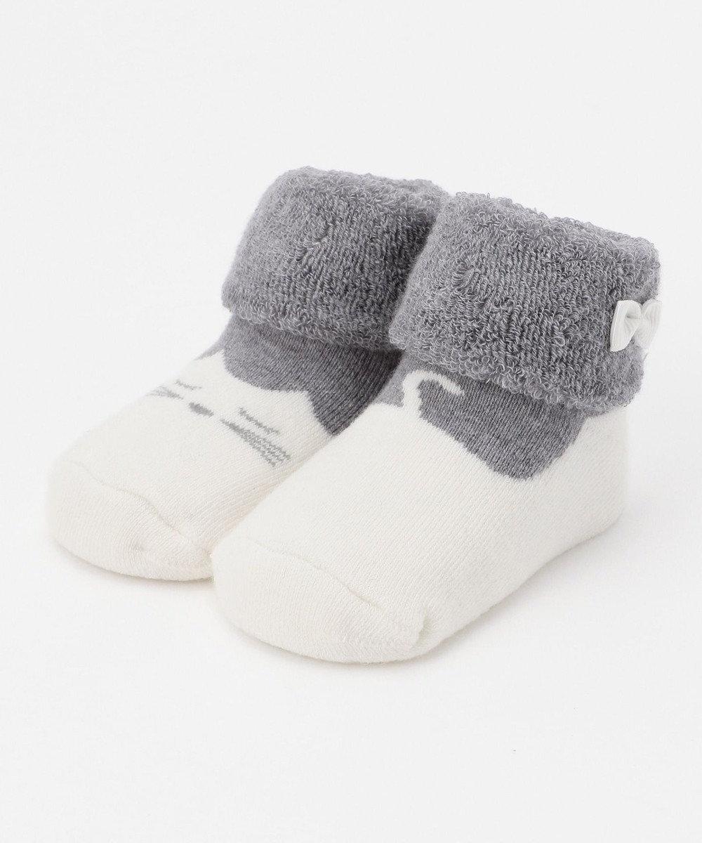 組曲 KIDS 【BABY雑貨】ミミソックス(11~13cm) グレー系