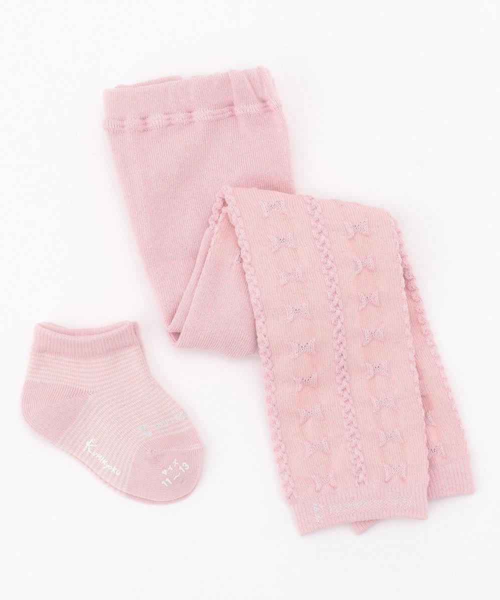 組曲 KIDS 【BABY雑貨】レギンス×ソックス セット(11~13cm) ピンク系