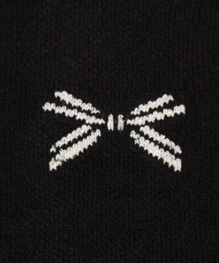 組曲 KIDS 【KIDS雑貨】リボンラメタイツ(100~160cm) ブラック系