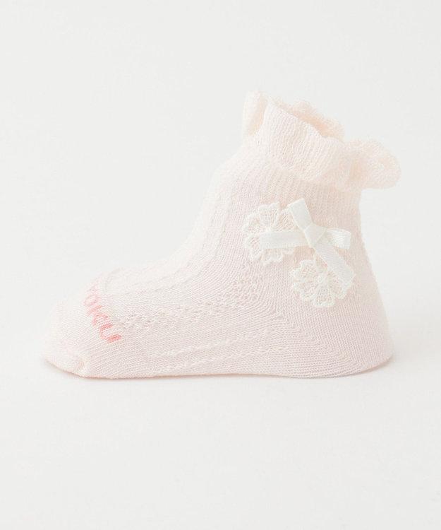 組曲 KIDS 【BABY雑貨】シルケット加工レース付 ソックス (11~13cm)