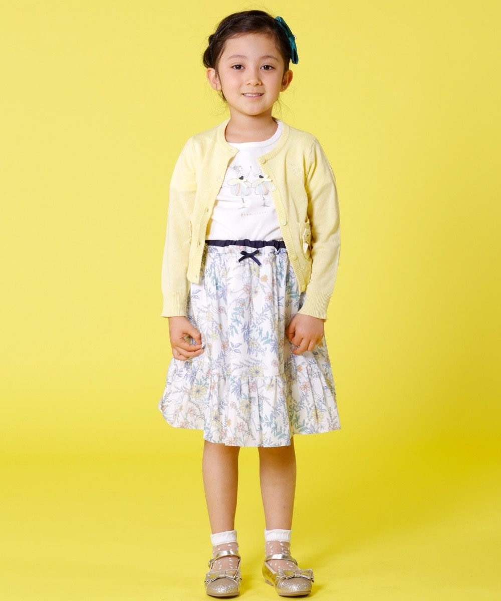 組曲 KIDS 【KIDS雑貨】シースループチフラワークルーソックス (16~24cm) ライラック系