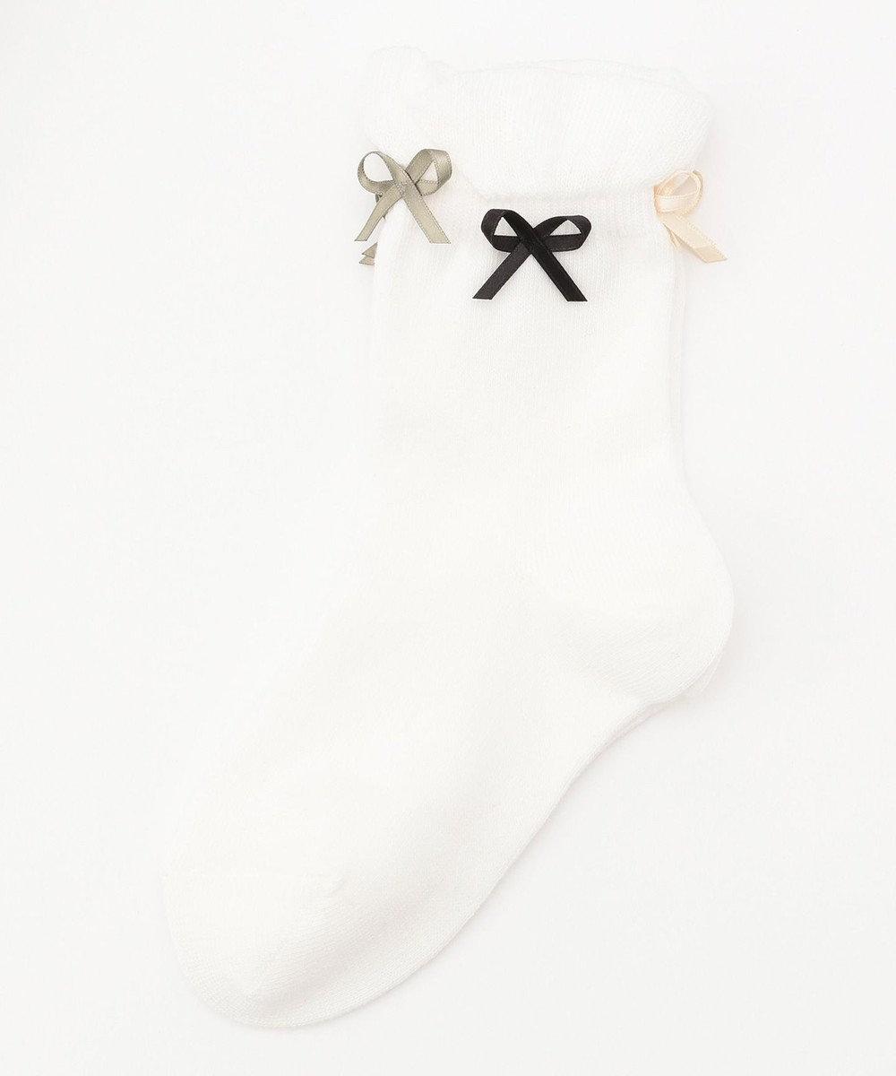 TOCCA BAMBINI 【KIDS雑貨】リボンソックス (9~22cm) アイボリー系