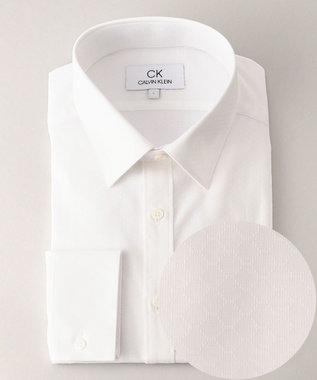 CK CALVIN KLEIN MEN 【形態安定】ワイヤードドビー シャツ / レギュラーカラー ホワイト系5