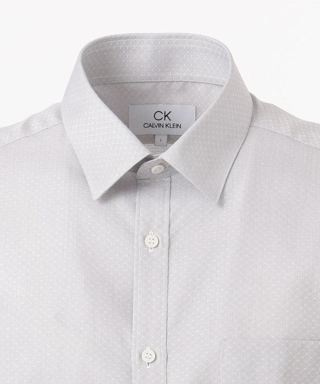 CK CALVIN KLEIN MEN 【形態安定】ワイヤードドビー シャツ / レギュラーカラー