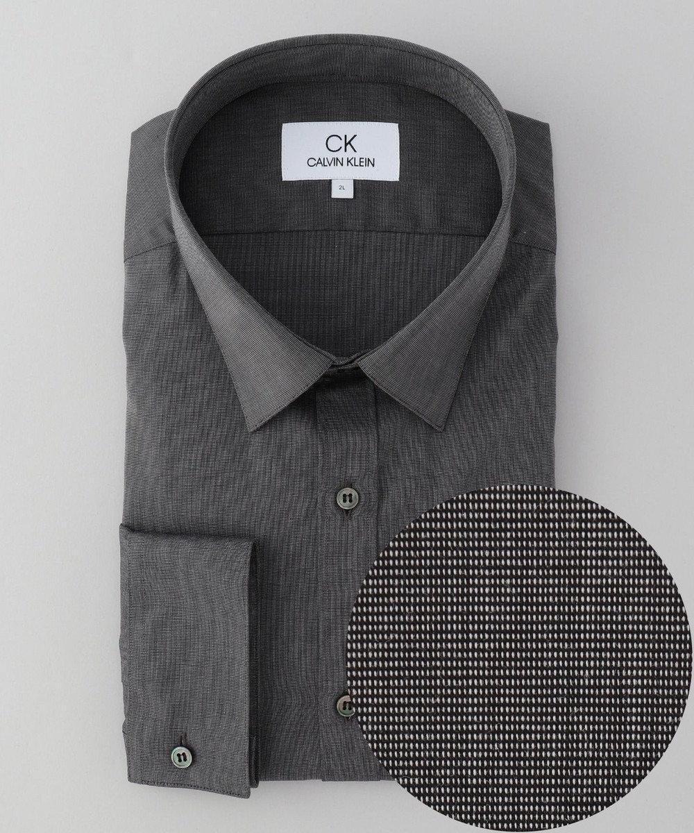 CK CALVIN KLEIN MEN 【形態安定】リファインドポプリン シャツ / レギュラーカラー グレー系