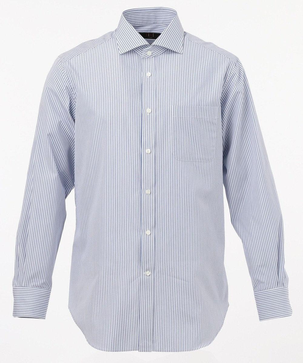 DAKS 【THOMAS MASON】ポプリンストライプシャツ  / ワイドカラー サックスブルー系1