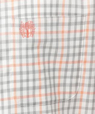 DAKS GOLF 【MEN】シーズンハウスチェック パナマ シャツ ライトオレンジ系3
