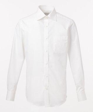 GOTAIRIKU 【形態安定】PREMIUMPLEATS ドレスシャツ / ドビーストライプ ホワイト系1