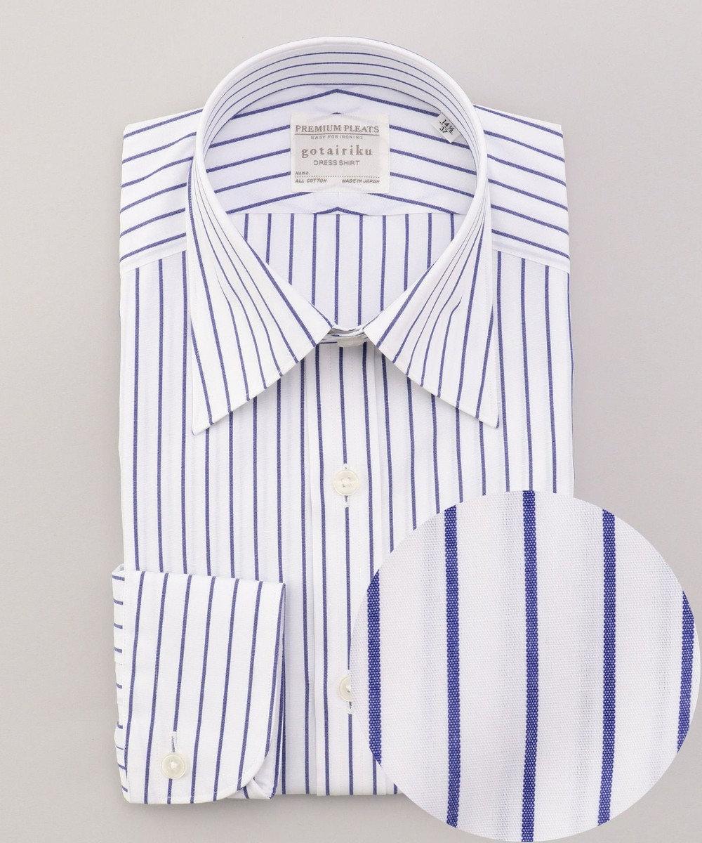 GOTAIRIKU 【形態安定】PREMIUMPLEATS ドレスシャツ / レギュラーカラー ブルー系1