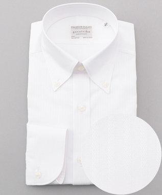 【定番】PREMIUMPLEATS_白ドビー / ボタンダウンシャツ