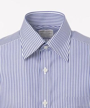 GOTAIRIKU 【形態安定】PREMIUMPLEATS ドレスシャツ / ロンドンストライプ ダルブルー系1