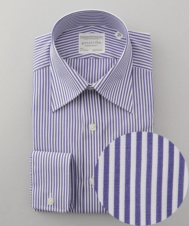 GOTAIRIKU 【形態安定】PREMIUMPLEATS ドレスシャツ / ロンドンストライプ
