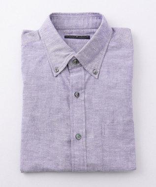 JOSEPH ABBOUD 【LUXURY COLLECTION】シャンブレーオックス ドレスシャツ ネイビー系