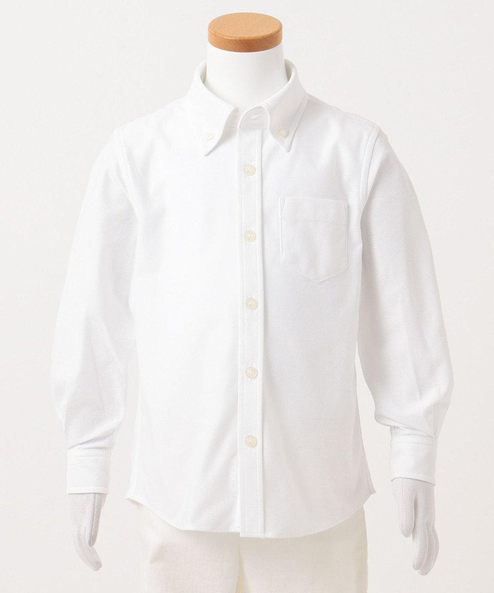 J.PRESS KIDS 【110-130cm】ツイルジャージー シャツ ホワイト系
