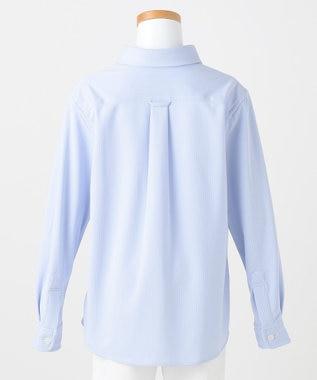 J.PRESS KIDS 【120-130cm】シャドーストライプジャージ シャツ ブルー系