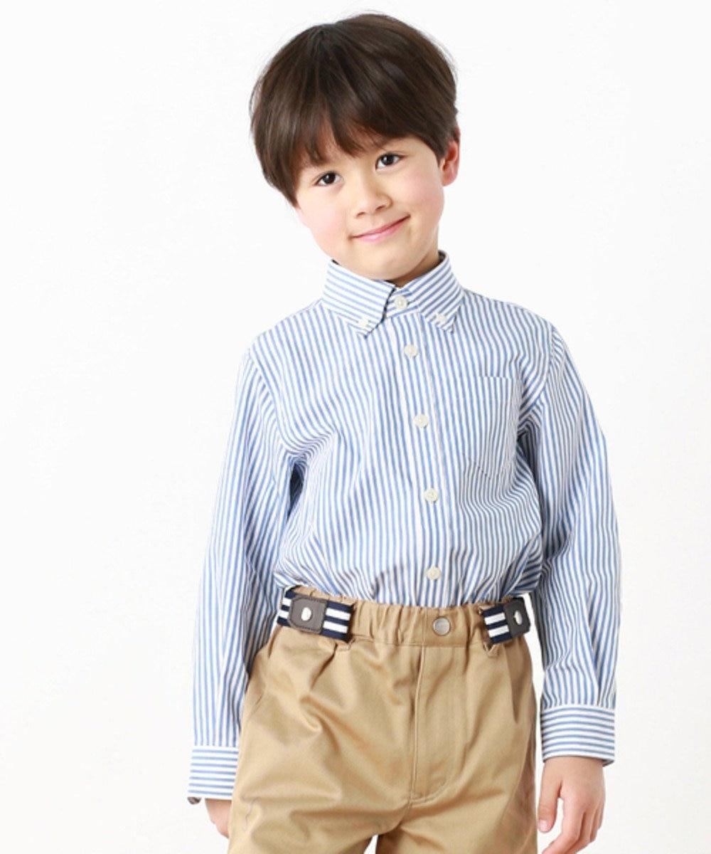 J.PRESS KIDS 【TODDLER】レールストライプ シャツ ブルー系1
