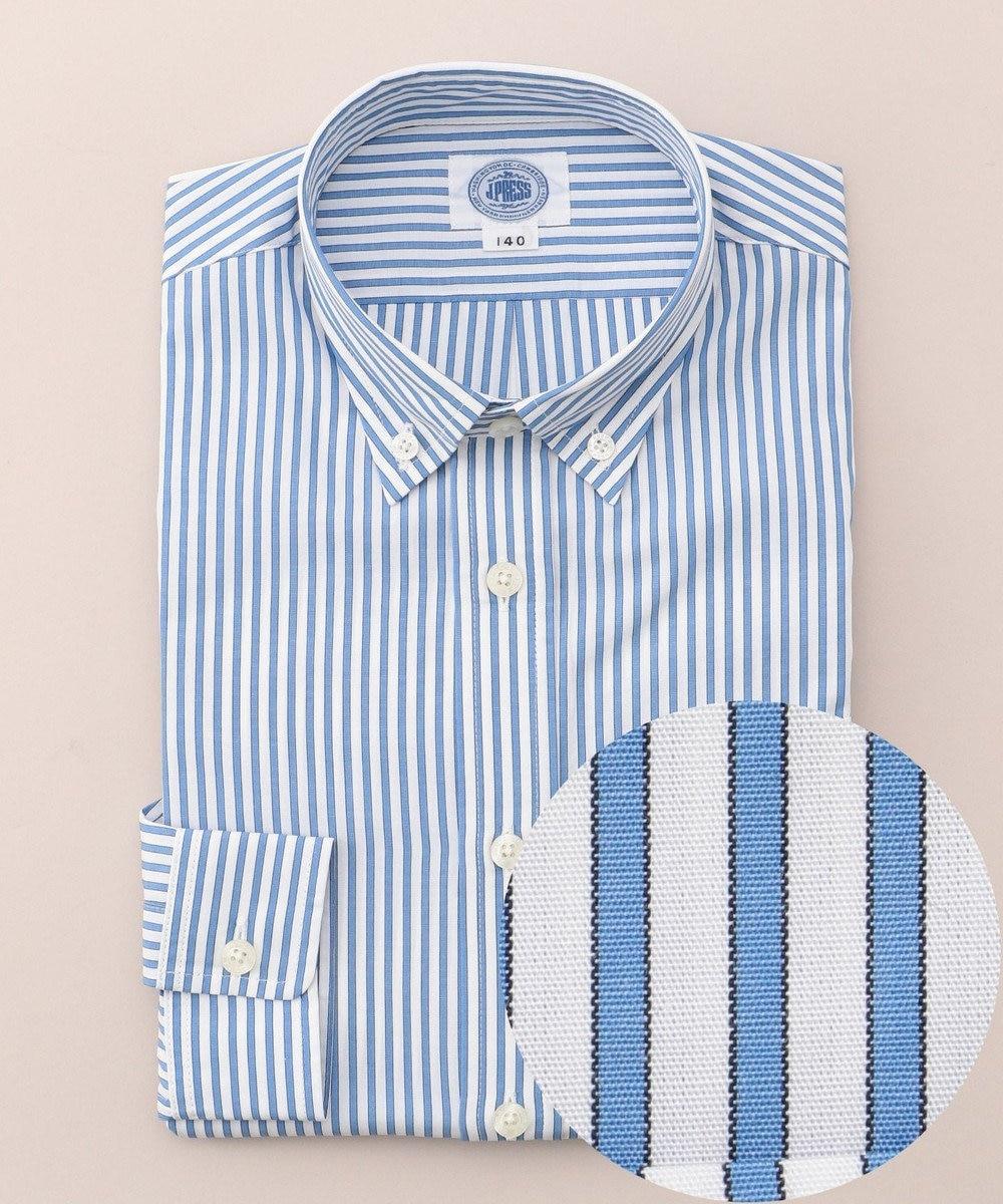 J.PRESS KIDS 【SCHOOL】レールストライプ シャツ ブルー系1