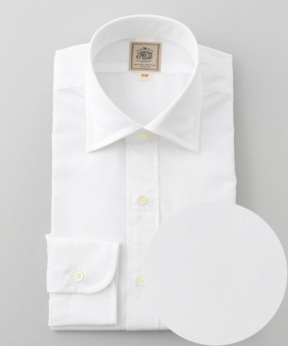 J.PRESS MEN 【Single Needle Tailoring】ブロード シャツ / ワイド ホワイト系