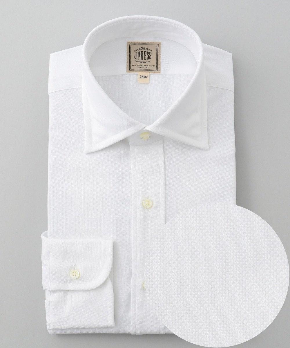 J.PRESS MEN 【Single Needle Tailoring】ロイヤルオックス シャツ / ワイドカラー ホワイト系