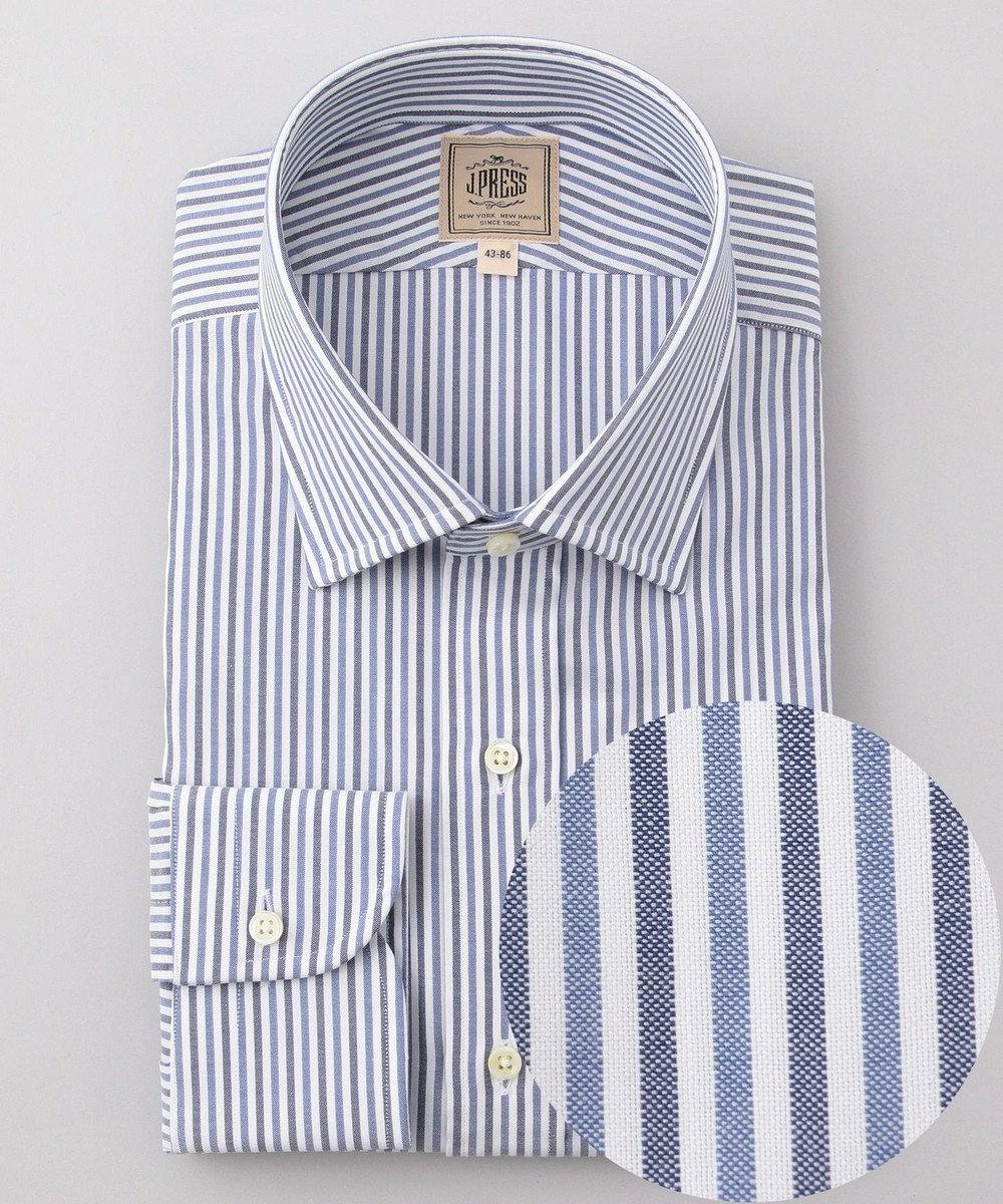 J.PRESS MEN 【Single Needle Tailoring】オルタネートストライプ ドレスシャツ ネイビー系1